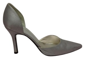 Stuart Weitzman Pump Leather Silver Pumps