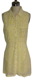 Lucca Couture short dress Yellow/white Floral on Tradesy