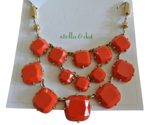 Stella & Dot New In Box Stella & Dot Olivia Bib Orange Statement Necklace