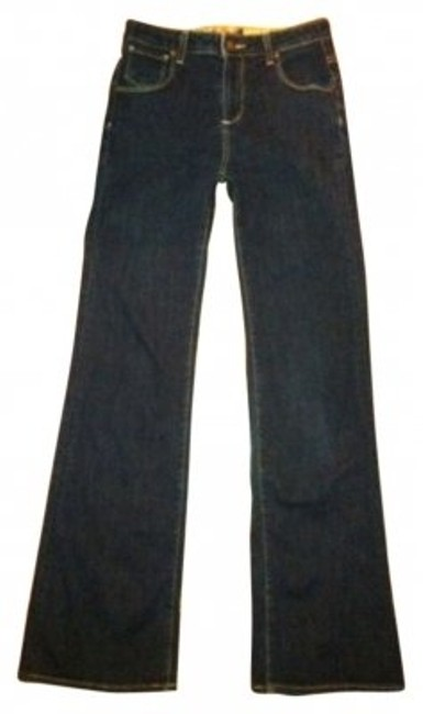 Item - Dark Rinse Roxley High Trouser/Wide Leg Jeans Size 26 (2, XS)