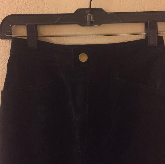 Wilsons Leather Straight Pants Black suede