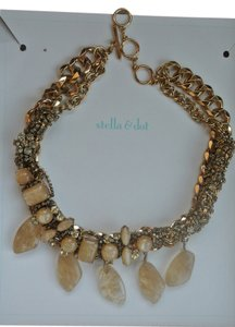 Stella & Dot New In Box Stella & Dot Jacqueline Gold Statement Necklace