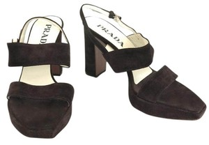 Prada Dark Brown Suede Pumps