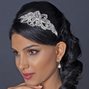 Elegance By Carbonneau Freshwater Pearl Wedding Headband