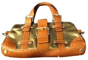 Michael by Michael Kors Satchel in antique gold and brown