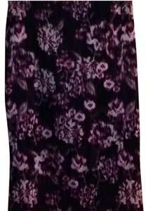 New York & Company Skirt Purple, Pink, and White