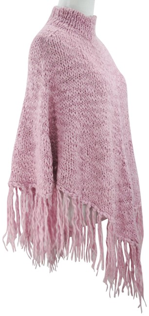 Preload https://img-static.tradesy.com/item/8264320/kenneth-cole-reaction-pink-knit-fringe-osfm-ponchocape-size-os-one-size-0-8-650-650.jpg