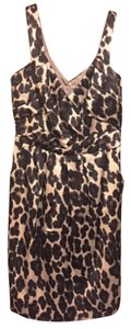 Kay Unger Leopard Silk Party Dress