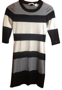 Autumn Cashmere short dress Black, Grey, andCream Color Block 100% Cotton on Tradesy