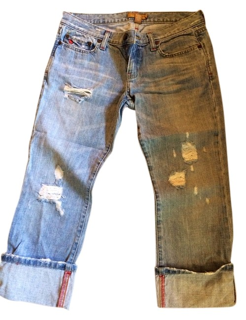 Abercrombie & Fitch Capri/Cropped Denim-Distressed