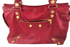 Balenciaga Satchel Lipstick Work Shoulder Bag