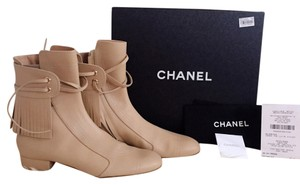 Chanel Women Beige Boots