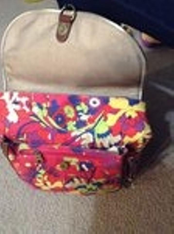 18aa9112f Sakroots Flower Power Bright Dark Pink Canvas Backpack - Tradesy