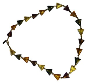 Other Glass triangular beaded necklace
