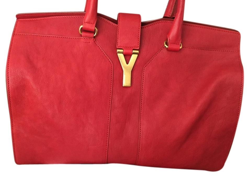 ... release date  e2512 f783e Saint Laurent Hand Yves Leather Satchel in  red .. ... 2071aeef48