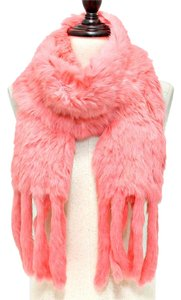 Other Genuine Fur Scarf Wrap Pink Peach Neckwarmer