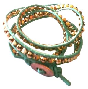 Scorpio Green Leather Infinite Bracelet