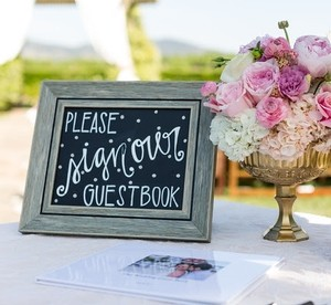 PRIVATE PARTY Black Chalkboard W/Natural Wood Frame Guestbook Sign Reception Decoration