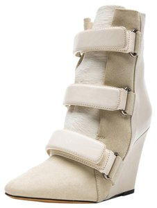 Isabel Marant Bootie Wedge Calfhair Ivory Boots