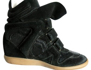 Isabel Marant Black Suede with Black Leather Trim Athletic
