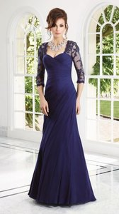 Mori Lee Navy Vm Collection Evening Gown Dress