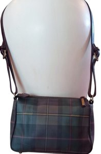Ralph Lauren Vintage Plaid Leather Shoulder Bag