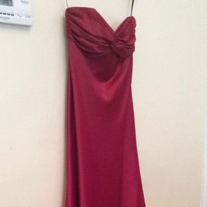Dessy Cranberry Red Bridesmaid/Mob Dress Size 10 (M)