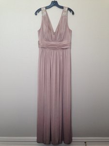 Calvin Klein Nude/Pink Floor-length Grecian-inspired Dress