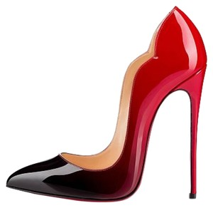 Christian Louboutin Designer Hot Chick Pigalle So Kate Red Black Pointed Toe Stiletto Sexy 40 10 9.5 39.5 Black/ red Pumps