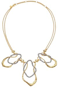 Alexis Bittar NWOT Alexis Bittar Elements Desert Crystal Wavy Three-Link Bib Necklace