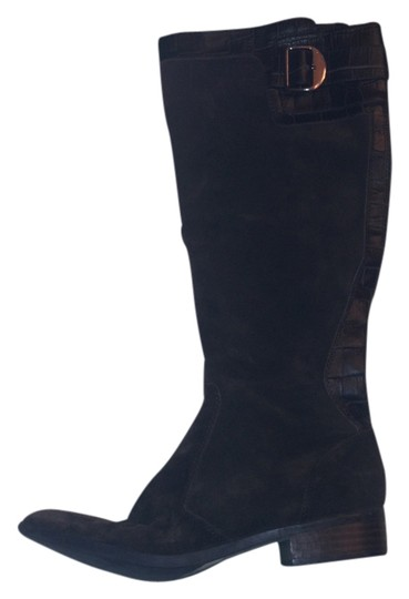 Marc Fisher High Buckle Brown suede leather Boots