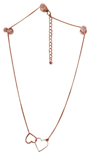 Item - Rose Gold Double Heart Necklace
