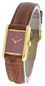 Cartier Cartier Tank Vermeil Silver & Gold Plaque Manual Wind Watch