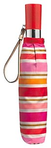 Coach COACH F62572 PEYTON MULTI STRIPE UMBRELLA SILVER/PINK MULTICOLOR NWT