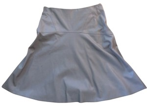 BCBGMAXAZRIA A-line Drop Waist Faux Leather Skirt Taupe
