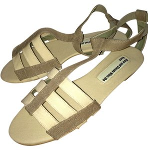 Slow and Steady Wins the Race Off White/Taupe Sandals