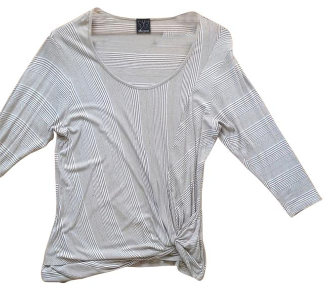 Preload https://img-static.tradesy.com/item/8270032/ella-moss-tan-and-white-striped-knot-tee-shirt-size-2-xs-0-3-650-650.jpg