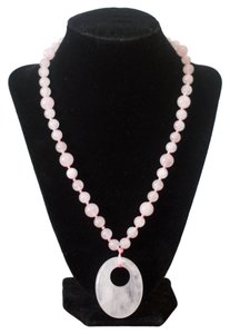 Other Rose Quartz Beads and Pendant Necklace