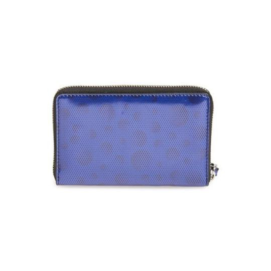 Marc by Marc Jacobs Marc By Marc Jacobs Blue Leopard Metallic Wristlet Wallet New With Tags