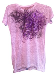 Sinful T Shirt White & Purple