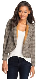 Max & Mia Plaid Grey Cute Tweed grey plaid Blazer