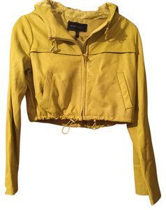 BCBGMAXAZRIA YELLOW Leather Jacket