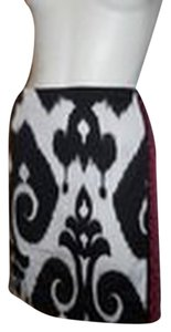 White House | Black Market Pencil Skirt black, white & pink