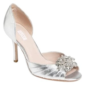 Glint Lea Leather Silver with Rhinestone Formal