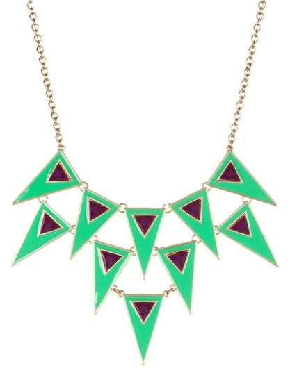 Meghan Meghan Fabulous Green Festival Necklace