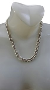 Erwin Pearl Silver chain link necklace