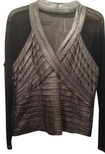 Other Silver Elegant Dressy Top Black