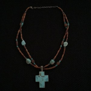 Dillard's Genuine Turquoise Cross Necklace