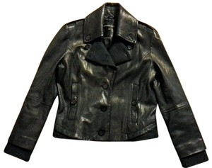 Andrew Marc Leather Motorcycle Wool Motorcycle Jacket