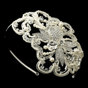 Elegance By Carbonneau 1920's Inspired Pearl Bridal Headband